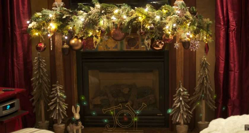 Modest Christmas Fireplace Ideas Decor Old Fashioned