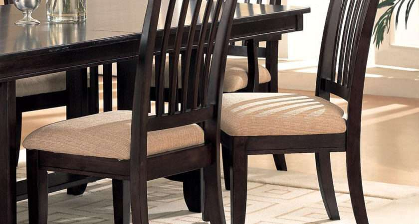 Monaco Cappuccino Casual Dining Room Table Chairs Set