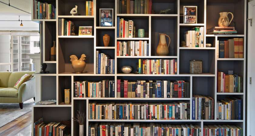 Mondrian Bookcase Eclectic Living Room Seattle