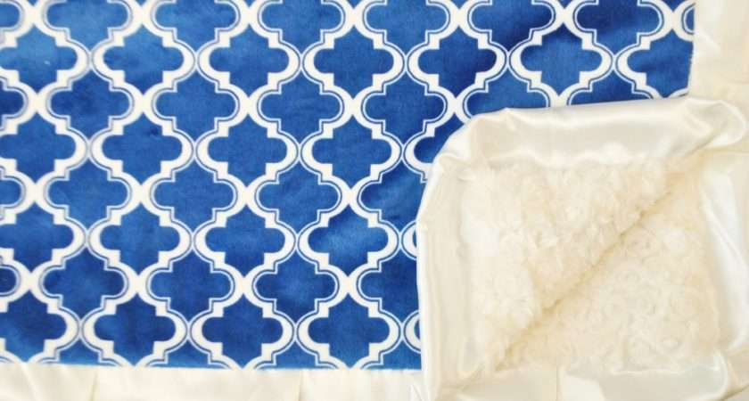 Moroccan Pattern Blue Cobalt Cream