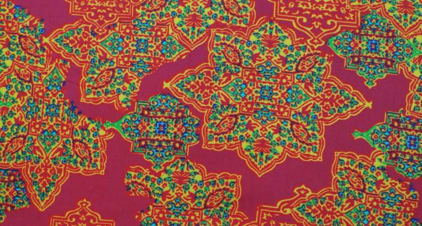 Moroccan Pattern Wide Rayon Fabric Dressmaking Sewing