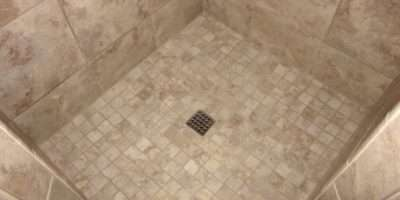 Mosaic Tile Shower Floor