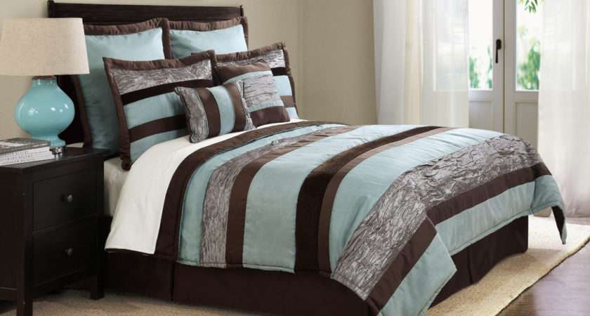 Name Aquachocolatesuedestripe Blue Brown Bedding