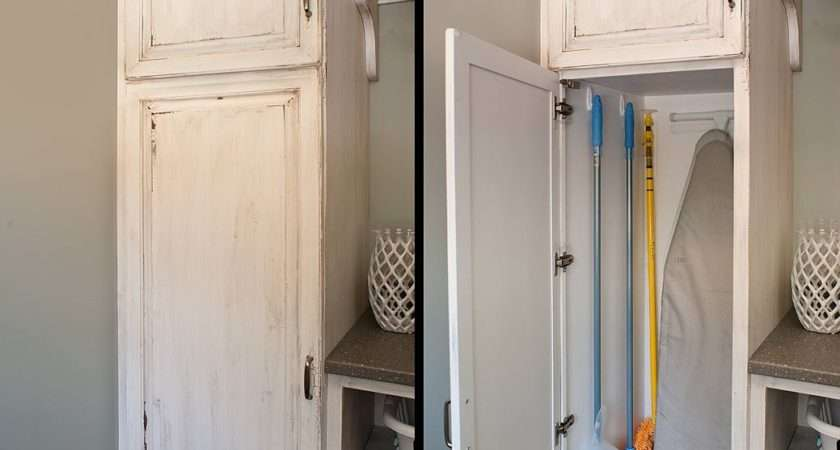 Narrow Pull Out Broom Closet