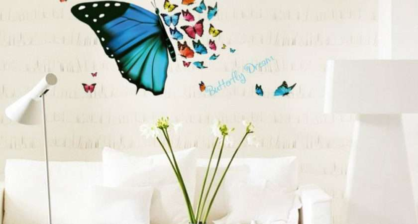 Natural Walls Butterfly Living Room Home