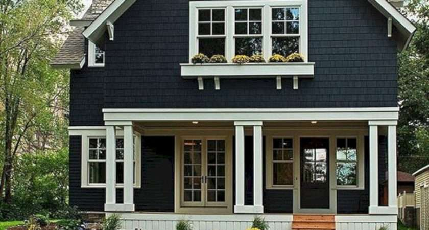 Navy Blue Exterior House Colors