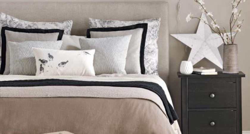 Neutral Bedroom Black Accents Traditional