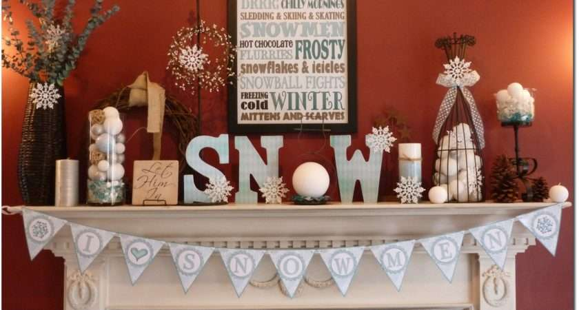 Never Decorated Winter Mantle Before Had Tons Fun