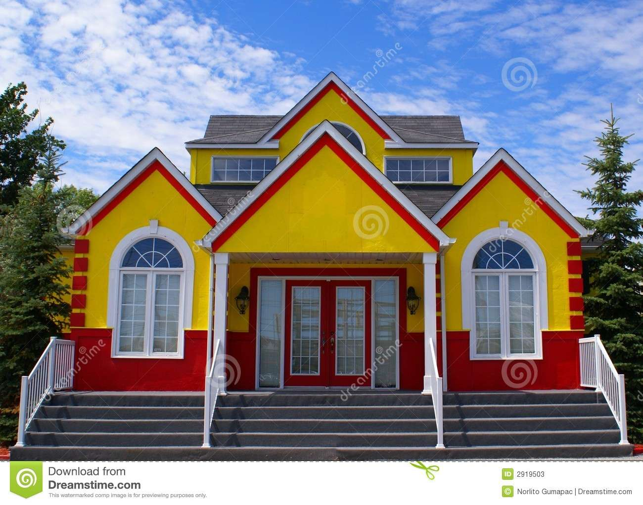 New Colorful House Historic Front