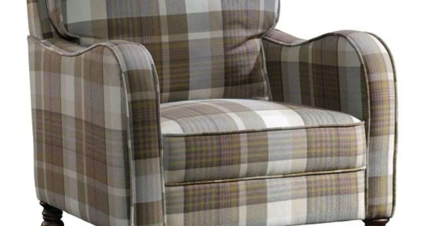 New Grange Accent Chair Brown Plaid Sauder Target