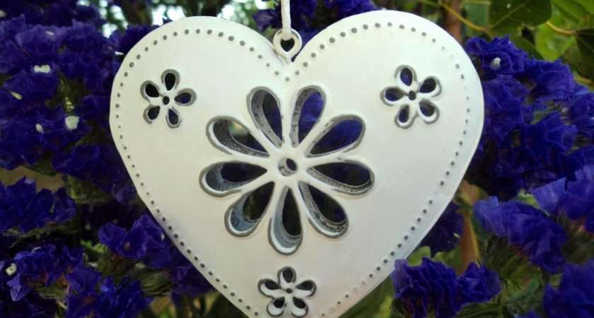 New Hanging Heart Decorations Vintage Style Shabby