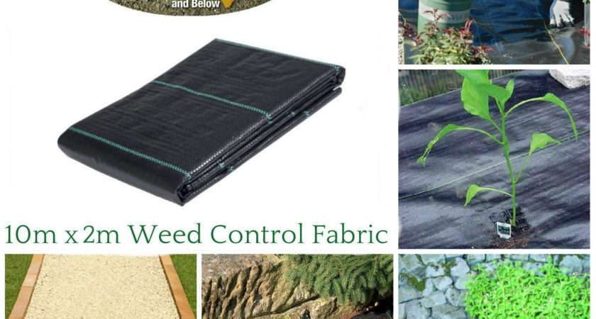 New Heavy Duty Weed Control Woven Fabric Ground Cover
