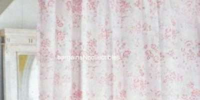 New Htf Simply Shabby Chic Vintage Pink Floral Rose Toile