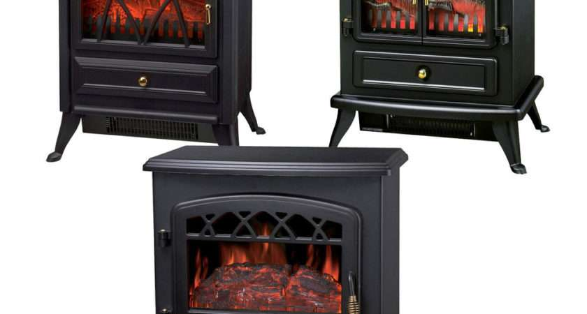 New Log Burning Flame Effect Stove Electric Fire