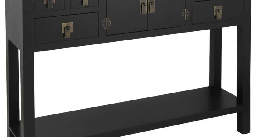New Pacific Lifestyle Black Wood Mdf Drawer Door Hall