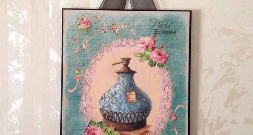 New Paris Perfume Cologne Plaque Wall Decor French Country