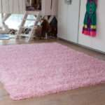 New Small Large Thick Soft Baby Pink Shaggy Rugs Non