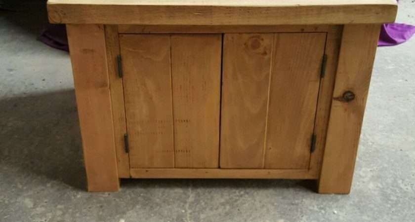 New Solid Wood Rustic Chunky Plank Wooden Cupboard Storage