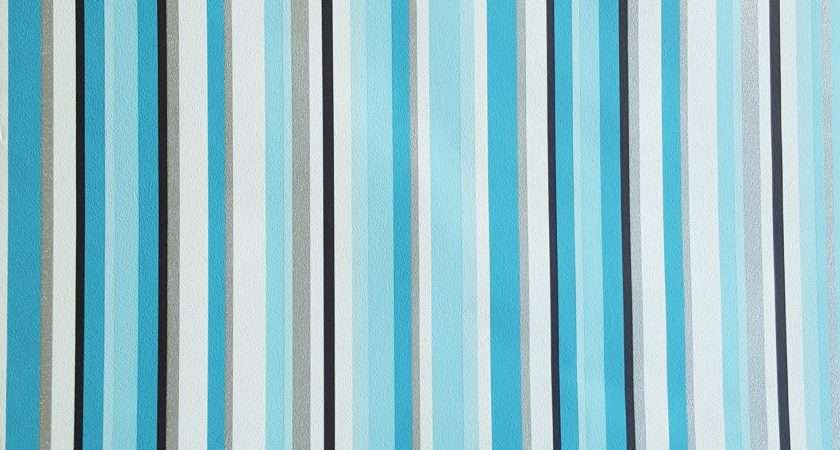 New Trend Teal White Black Silver Barcode Stripe