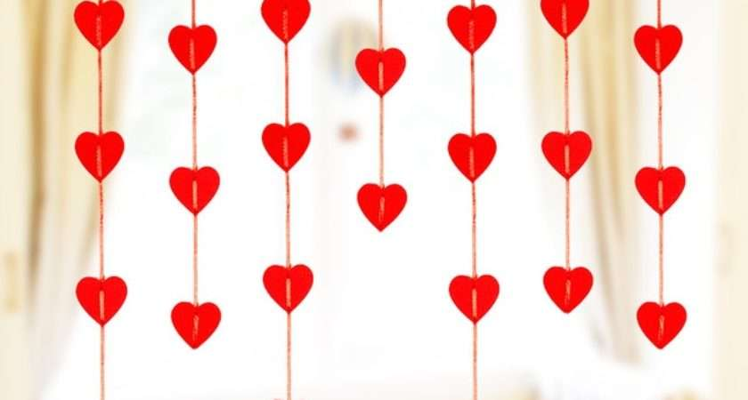 New Wedding Decoration Hanging Garland Red Heart Non