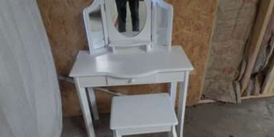 New White Girls Make Vanity Table Mirrors Bench Extra