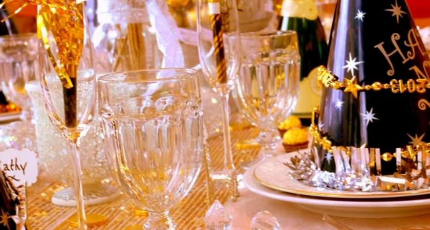 New Year Eve Table Setting
