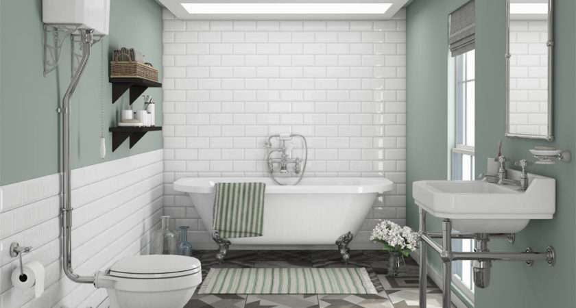 Newbury Traditional Back Wall Roll Top Bath Suite
