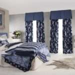 Nice Master Bedroom Decors Blue Accent Modern Drapes