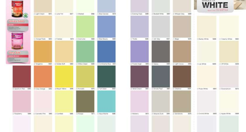Nippon Paint Vinilex Colour Chart