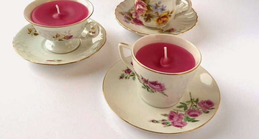 Nordic Craft Upcycling Vintage Teacups Making Teacup Candles