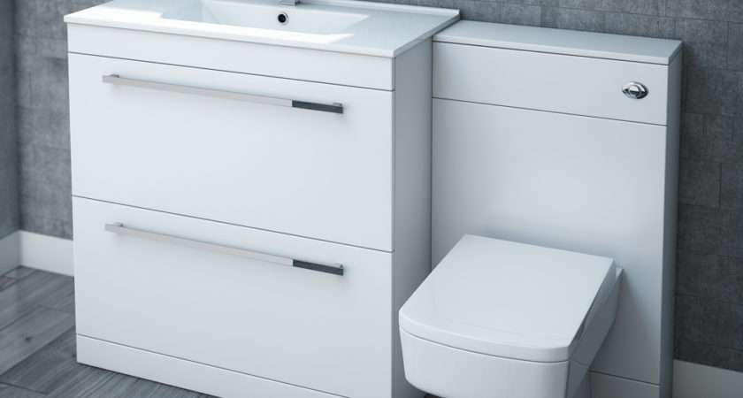 Nova High Gloss White Floor Standing Basin Unit