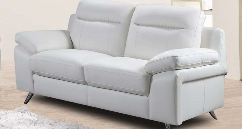 Nuvola Italian Inspired Modern White Leather Sofa Collection