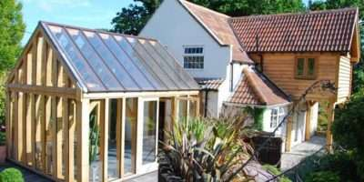 Oak Framed Conservatory Glass Roof Ireland All Shades Gree