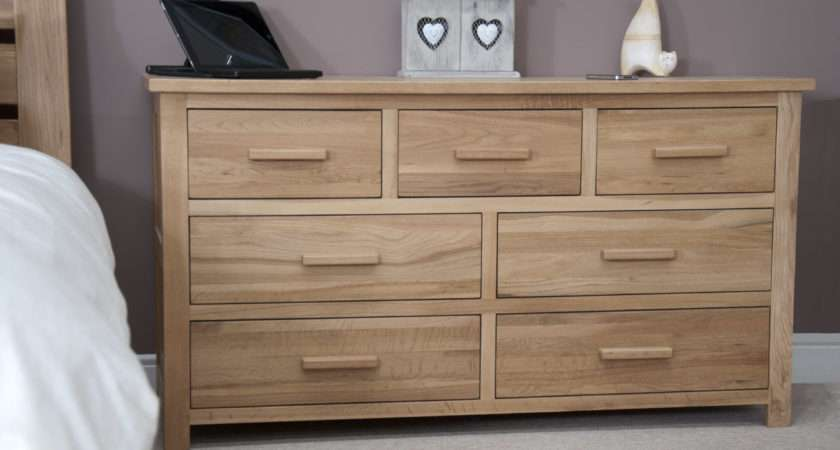 Oak Low Chest Drawers Melbourne Drawer Multi