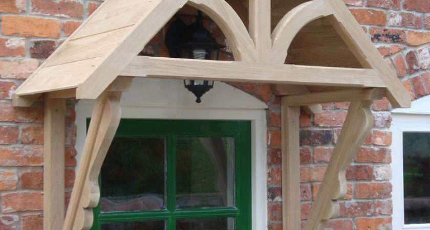 Oak Timber Front Door Canopy Porch Hand Made Blakemere Ebay