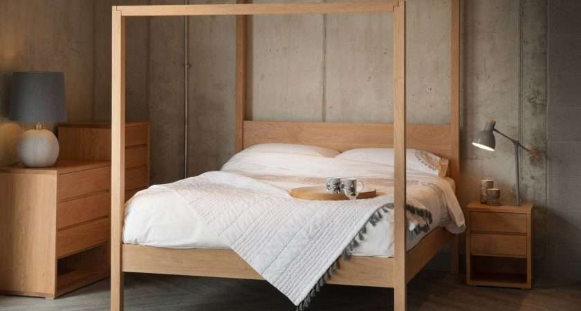 Oasis Contemporary Poster Bed Natural Company