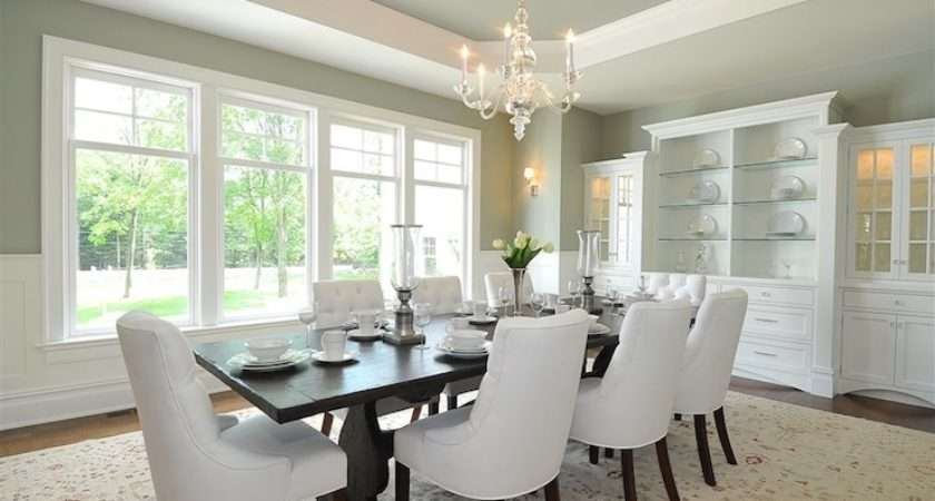 Octagonal Recessed Ceiling Traditional Dining Room