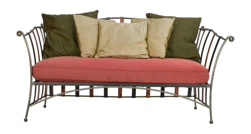 Off Custom Made Wrought Iron Daybed Sofa Silk