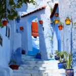 Old Town Morocco Covered Blue Paint Bored Panda