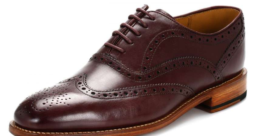 Oliver Sweeney Mens Burgundy Aldeburgh Leather Shoes