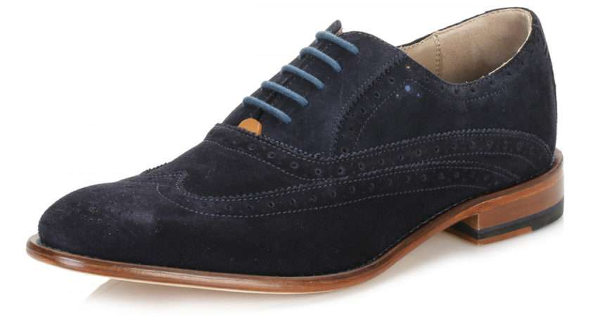 Oliver Sweeney Mens Navy Fellbeck Suede Brogue Shoes