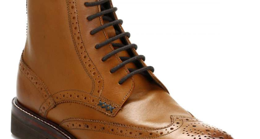 Oliver Sweeney Mens Tan Airton Leather Brogue Boots