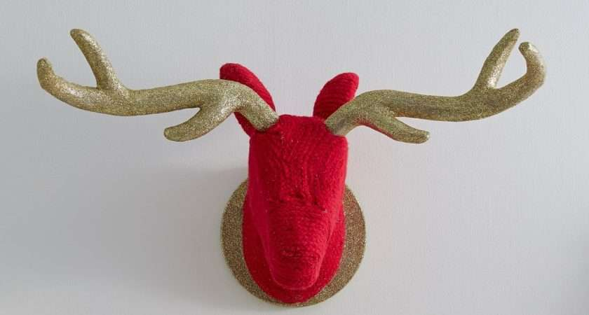 Once Entire Stags Head Covered Slot Antlers May