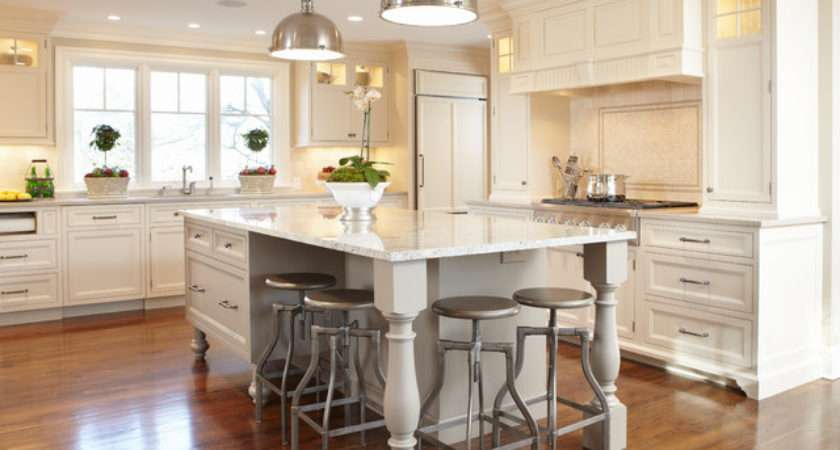 Open Floor Plan Kitchen Renovation Traditional