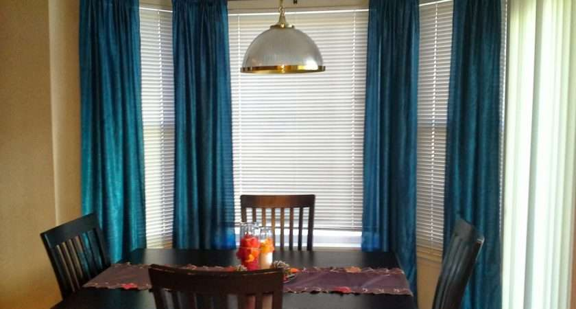 Open Kitchen Did Same Curtains All Along Wall