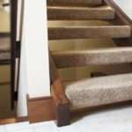 Open Risers Stairs Staircase Stairwell Natural Wood Stain Shaw Tuftex