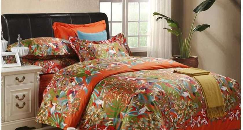 Orange Quilt Cover Promotion Shopping