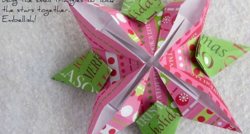Origami Christmas Stars Your Wrapping Paper Scraps
