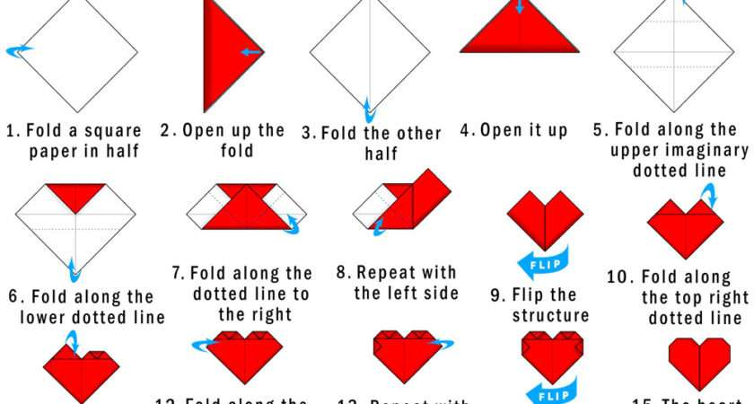 Origami Heart Instructions Found Here Info