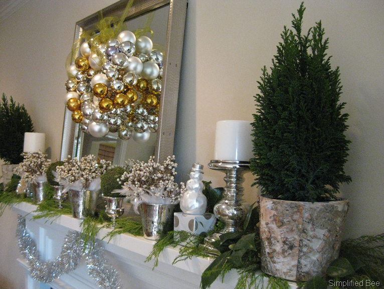 Our Elegant Even Glamorous Christmas Mantel Simplified Bee
